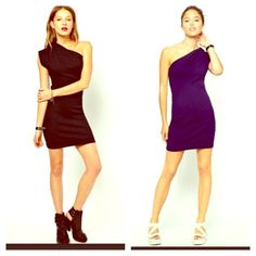 Sexy Cutout Dress NWT! Stunning and so versatile! Size is M/L. Color is Imperial Purple.  American Apparel Dresses One Shoulder