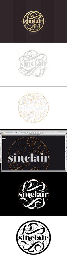 Process for Sinclair logo by Spritz Creative