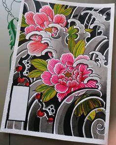 Peonies Tattoo, Oriental Tattoo, Tattoo Graphic, Japanese Sleeve Tattoos, Irezumi, Motif Floral, Tattoos With Meaning, Tatting, Chibi