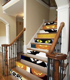 halloween deko fledermäuse wohnzimmer dekorieren kamin | halloween ...