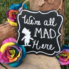 Alice in Wonderland Tea Party Sign Chalkboard Sign Birthday Party Decorations…