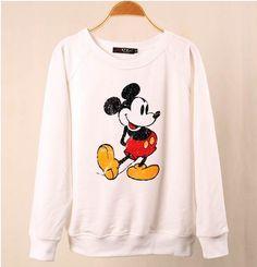 EAST KNITTING FASHION WY-080 2013 NEW Harajuku Cartoon pullovers 3D GALAXY Mickey Mouse Sweatshirt Free shipping
