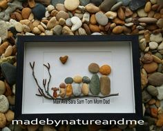 Personalized family art personalized family pebble art