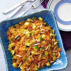 Curried Zucchini & Couscous (need curry powder - uses slivered almonds) | Eating Well