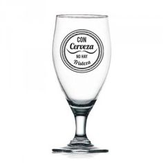 Con cerveza no hay tristeza! http://lamoussetache.es/producto/con-cerveza-no-hay-tristeza/