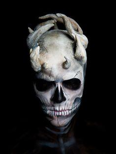 Makeup by Nicole Soo. Skeleton Makeup #creatures