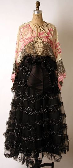 Evening dress  Zandra Rhodes (British, born 1940)  Date: 1975–76 Culture: British Medium: silk, cotton, polyester