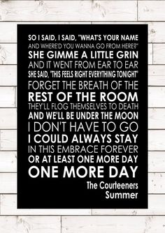 & printed on card with a lovely gloss finish. Party Lyrics, Song Lyrics Art, Lyric Art, Poem Quotes, Lyric Quotes, Life Quotes, Foo Fighters Lyrics, The Courteeners, Liam Fray