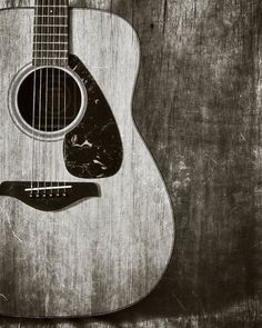 Guitar Photography, Fine Art Print, Musical Instrument, Music Room Decor, Music Lover Gift Idea, Guitarist Gift, Grungy, Black and White Art