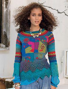 Ravelry: #19 Kandinsky pattern by Claireline Chevaux