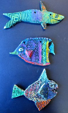 Elementary Art Lessons - Annie Jewett s Art Room grade double fish project Clay Projects For Kids, Kids Clay, School Art Projects, Clay Art For Kids, 3d Art, Sculpture Lessons, Book Sculpture, Art Lessons Elementary, Elementary Art Education