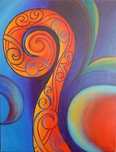 Abstract Painting - Tribal Koru Red by Reina Cottier Zentangle, Maori Symbols, Maori Patterns, New Zealand Art, Nz Art, Maori Art, Art Classroom, Art Lessons, Fine Art America