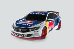 #Honda Debuts 2016 #Civic Coupe Racing Livery to Compete in 2016 Red Bull Global Rallycross Series  #hondacars