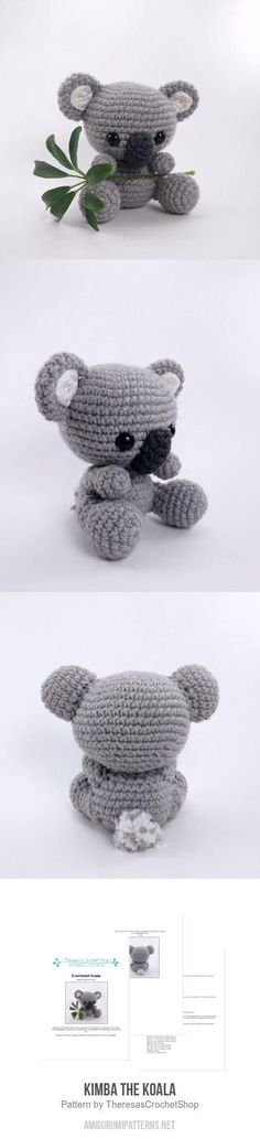 Kimba The Koala Amigurumi Pattern                                                                                                                                                                                 More