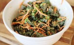 Acute Designs: thai peanut kale salad