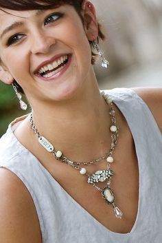 Love this necklace & all her jewelry actually. http://dianafrey.blogspot.com/