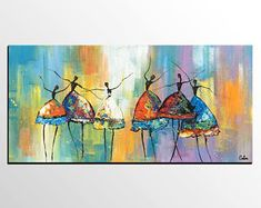Acrylmalerei, Ballett-Tänzer-Malerei, kundenspezifische Kunst, Leinwand Kunst, Leinwandmalerei, abstrakte Kunst, pastosen Wandkunst, Palette Messer Kunst