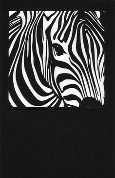 Free Zebra Note Card with SVG File