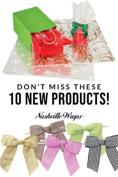 From window gourmet window boxes to colorful tissue paper, see how our 10 new products can help with your gift, gourmet, and retail packaging needs today! via @nashvillewraps