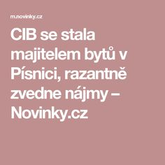 CIB se stala majitelem bytů v Písnici, razantně zvedne nájmy– Novinky.cz