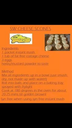 Slimming world cheese scones
