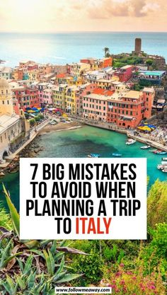 7 Big Mistakes To Avoid When Planning A Trip To Italy Italy travel tips things to know before traveling to Italy best things to do in Italy how to travel to Italy travel tips for visiting Italy in Europe Europe travel tips what to do in Italy Cool Places To Visit, Places To Travel, Places To Go, Travel Things, Voyage Europe, Europe Europe, Travel Europe, Things To Do In Italy, 10 Days In Italy