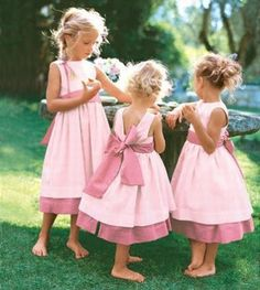 Damas de honra de rosa #daminha