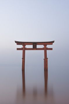 Torii gate of Shirahige shrine, Japan