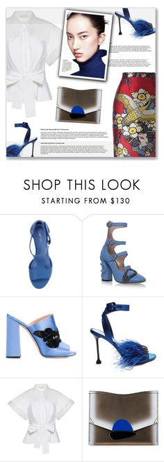 """Shoe Dilemma  (You Choose)"" by jacknthebeansdog ❤ liked on Polyvore featuring Top End, Gucci, Rochas, Miu Miu, Delpozo, Proenza Schouler and Dsquared2"