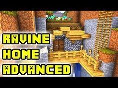 This Minecraft tutorial shows how to build an advanced big ravine house/home/base on Survival Minecraft. I really enjoyed making this build for you guys and . Minecraft Houses Xbox, Minecraft House Tutorials, Minecraft Houses Blueprints, Minecraft House Designs, Minecraft Videos, Minecraft Tutorial, Minecraft Creations, Minecraft Projects, Minecraft Crafts