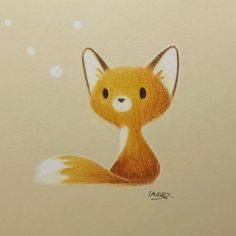 "Laure S (@lauresillus) en Instagram: ""Just a little fox today . I used Luminance colored pencils for this drawing. I can't draw without…"""