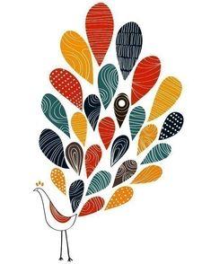 idea for peacock applique