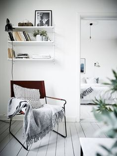 Fresh blue and white home - via cocolapinedesign.com