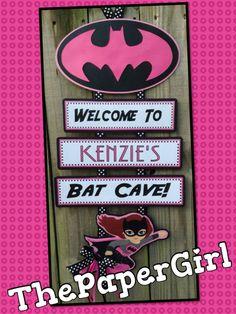 Handmade Bat Girl Birthday Party Baby Shower by ThePaperGirlbyANM Batman Birthday, Superhero Birthday Party, 4th Birthday Parties, Girl Birthday, Birthday Ideas, Themed Parties, Batgirl Party, Batman Party, Superhero Baby Shower