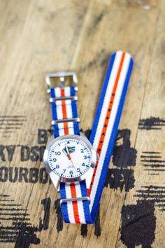 Florida Gators Nato Striped Strap Watch