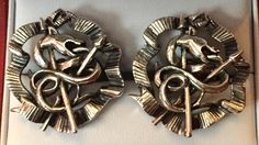 Vintage SWANK Coiled Snake Cufflinks by CremedelaCuff on Etsy