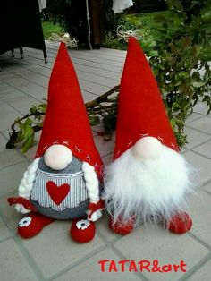 """I wanted to share our collection of Christmas gnomes. They are called Nisse (Norwegian) or Tomte (Swedish). Tomte literally means """"Homestead Man"""" so I thought Christmas Sewing, Christmas Gnome, Christmas Projects, Christmas Angels, Swedish Christmas, Scandinavian Christmas, Felt Crafts, Holiday Crafts, Xmas Ornaments"""