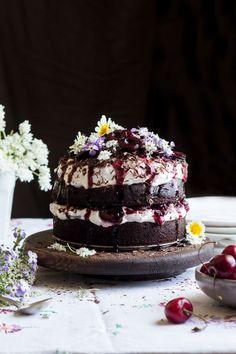 vegan black forest cake small