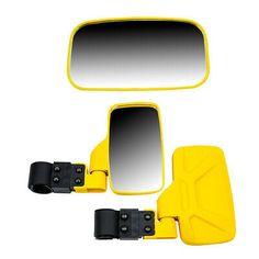 Red UTV Side /& Rear View Mirror Kit for Honda Pioneer 500 550 700 1000