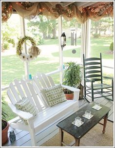 Porch Update With Beautiful DIY Low Cost Burlap Ribbon!