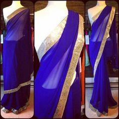 Blue Partywear Sari