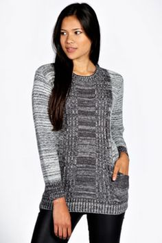 Maria Marl Knit Soft Touch Jumper at boohoo.com  Love this in both colours