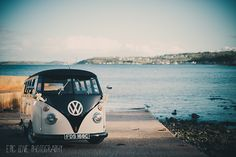 A VW wedding by the water, just beautiful...