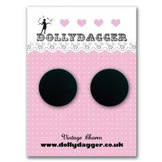 Dollydagger Black Lucite Retro Dot Earrings – Dollydagger Boutique