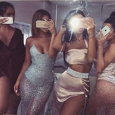 When the squad looking EXTRAAAA in MESHKI  @itslydboss @nicolekhalil @melyssalauren @victoria.stylianou | Shop all looks at www.meshki.com.au