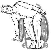 Doing a wheelchair 'push up' or draping your body over the side of the chair for 15 seconds every 15 minutes will release pressure. Physical Therapy Exercises, Occupational Therapy Activities, Activities Of Daily Living, Spinal Cord Injury, Draping, Instrumental, Chair, Regional, Management