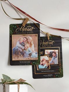 Hang holiday cards w