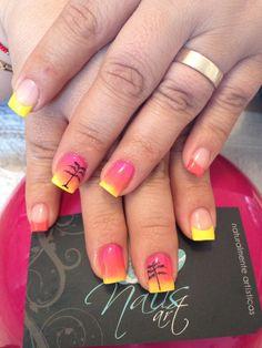 Nails art, acrylic nails, summer nails