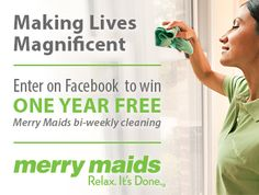 Win Merry Maids cleanings for a year or many more prizes! http://thrifty4nsicgal.com/2013/09/04/merry-maids-making-lives-magnificent-giveaway-ends-1022/