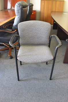 Grey Patterned Guest Chairs A Affordable Office Furniture